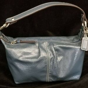 COACH  Blue Patent Leather Small Soho Purse
